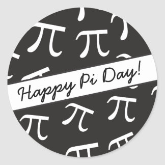 Lots of Pi - Math - Happy Pi Day Classic Round Sticker
