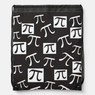 Lots of Pi Symbols - Math Themed Drawstring Bag