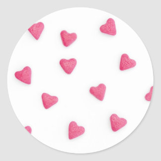 lots of pink candy hearts background sticker