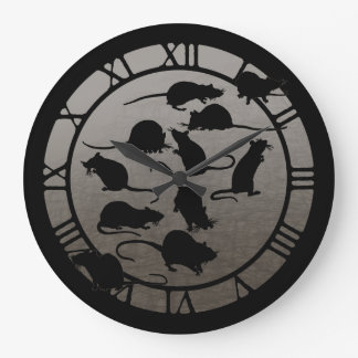Lots Of Rats Large Clock