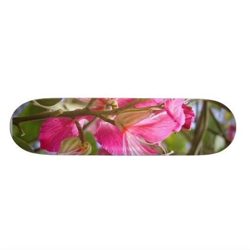 Lots Of Red Flowers Skateboard Deck
