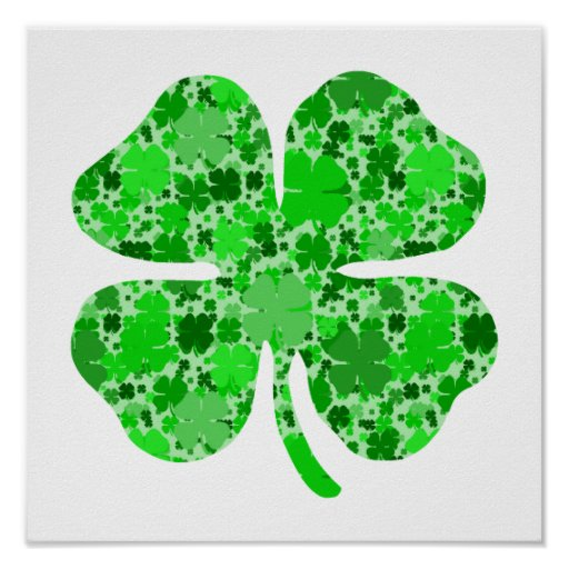lots of shamrocks.png posters