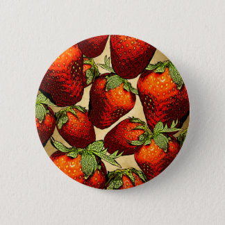 Lots of Strawberries 6 Cm Round Badge