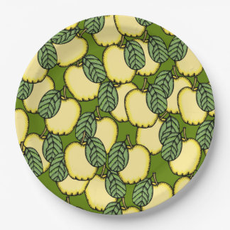 Lots of Yellow Apples 9 Inch Paper Plate