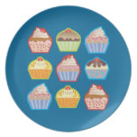 Lotsa Cupcakes Blue Plate