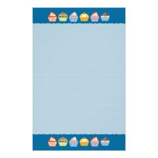 Lotsa Cupcakes Blue Stationery