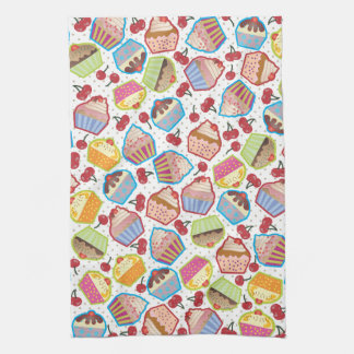 Lotsa Cupcakes n Cherries Kitchen Towel