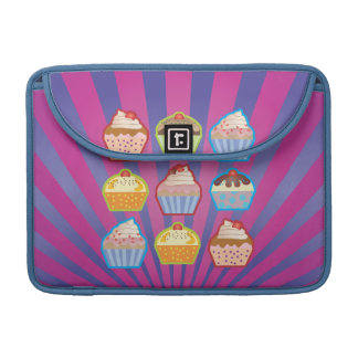 Lotsa Cupcakes Purply Blue MacBook Pro Sleeve