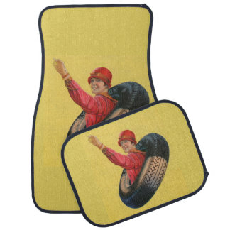 Lotta Miles waving for Kelly-Springfleld tires Car Mat