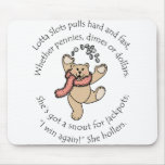Lotta Slots Lucky Teddy Mouse Pad