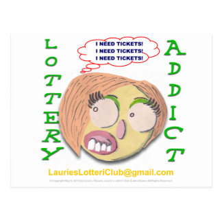Lottery Addict 002d Postcard
