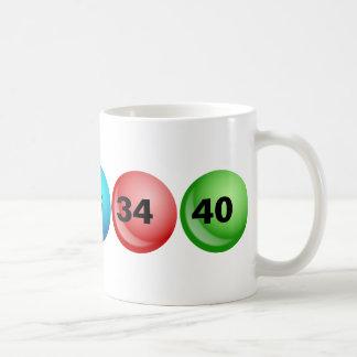 Lottery Balls, 3, 18, 23, 34, 40 Coffee Mug