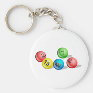 Lottery Balls Basic Round Button Key Ring