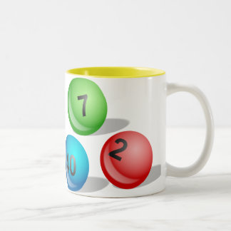Lottery Balls Two-Tone Coffee Mug
