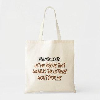 Lottery Humor Budget Tote Bag
