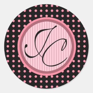 Lotti Dotti - Initials Sticker (Baby Pink)