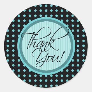 Lotti Dotti - Thank You Sticker (Aqua)