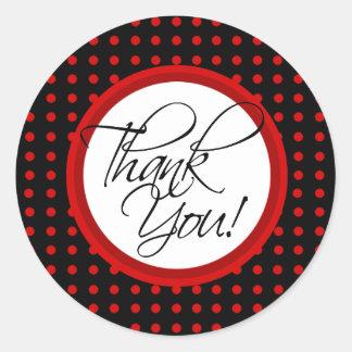 Lotti Dotti - Thank You Sticker (Red)