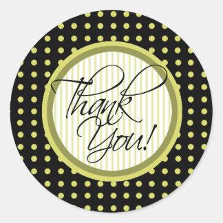 Lotti Dotti - Thank You Sticker (Saffron)
