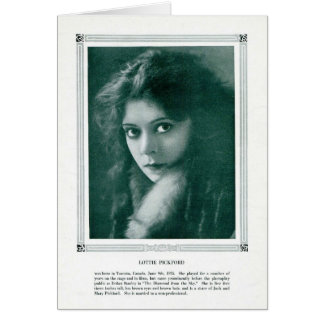 Lottie Pickford 1916 vintage portrait card