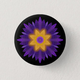 Lotus 3 Cm Round Badge