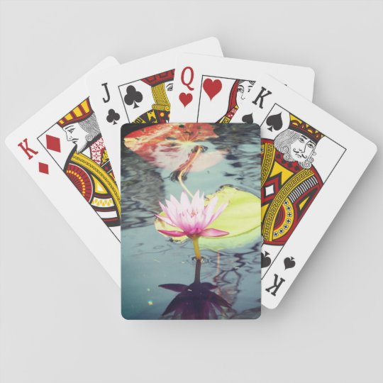 Lotus and Waterlily Playing Cards