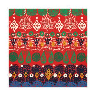 lotus block Christmas Canvas Print