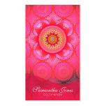 Lotus Bloom PInk Mandala Pack Of Standard Business Cards