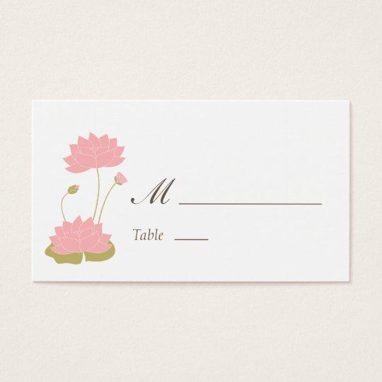 Lotus Bloom Place Card
