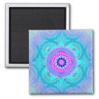 Lotus Bloom Turquoise Mandala ID129 Magnet