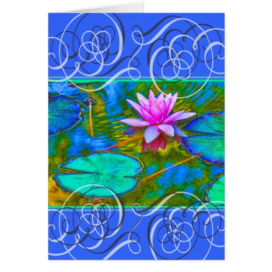 Lotus Blossom Get Well Beautiful Colours Card