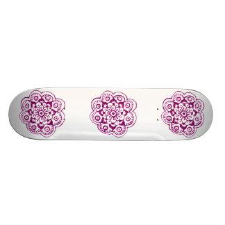 Lotus Blossom (Henna) (Pink) Skate Board