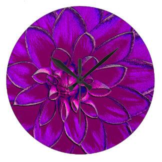 Lotus Blossom Large Clock