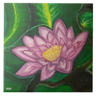 Lotus Blossom (Lily Pad) Large Square Tile