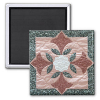 Lotus Blossom Quilt Magnets