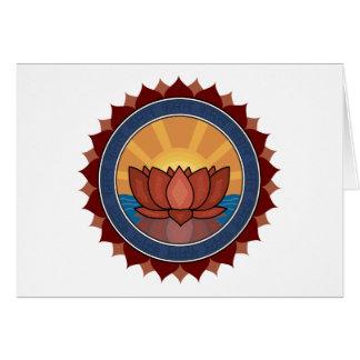 Lotus Blossom Yoga Card