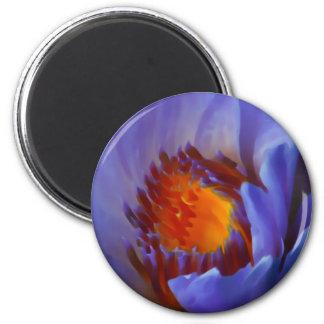LOTUS BLUE 6 CM ROUND MAGNET