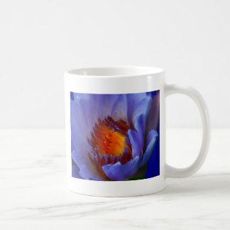 LOTUS BLUE CLASSIC WHITE COFFEE MUG