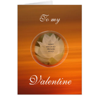 Lotus Bubble SGI Buddhist Valentine's Card