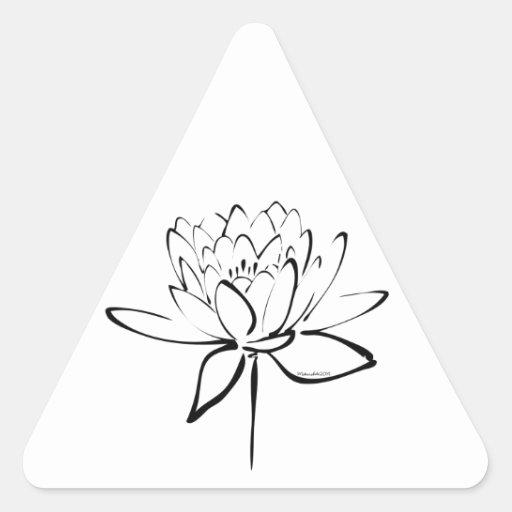 Lotus Calligraphy (Black) Stickers