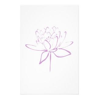 Lotus Calligraphy (Lavender) Custom Stationery