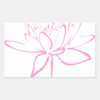 Lotus Calligraphy (Pink) Sticker