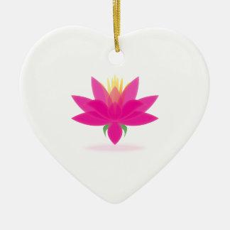 lotus ceramic heart decoration