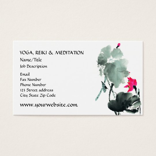 LOTUS | Chinese Brush Painting Art Business Card