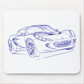 Lotus Elise 2nd gen sketch Mouse Pads
