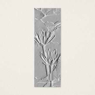 Lotus/Embossed-Like Photo Bookmark Mini Business Card