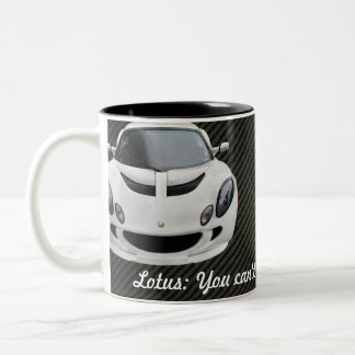 Lotus Exige S Race Car Two-Tone Coffee Mug