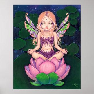 Lotus Fairy yoga fairy lily Art Print
