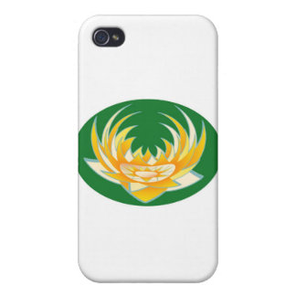 LOTUS Flame in Green Base Cases For iPhone 4
