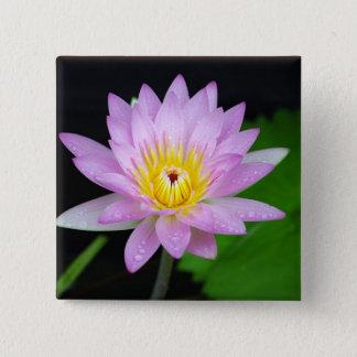 Lotus Flower 15 Cm Square Badge